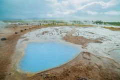 Geothermal activity landscape Royalty Free Stock Photo