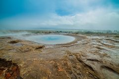 Geothermal activity landscape Stock Image