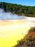 Geothermal Activity in New Zealand. Geothermal Activity of the Artist's Pallette Pool, Waiotapu Thermal Reserve, New Zealand Royalty Free Stock Photo