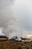 Geothermal activity in volcanic area in Iceland Stock Photo