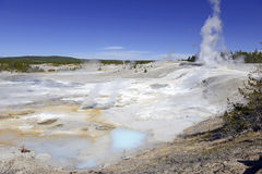 Geothermal activity at Yellowstone National Park, Wyoming Stock Image