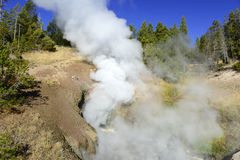 Geothermal activity at Yellowstone National Park, Wyoming Royalty Free Stock Image