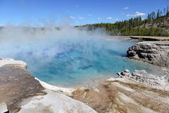 Geothermal activity at Yellowstone National Park, Wyoming Royalty Free Stock Photo