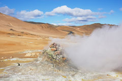 Geothermal Area Hverir Royalty Free Stock Photography