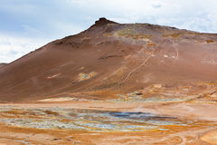 Geothermal Area Hverir, Iceland Royalty Free Stock Photos
