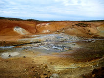 The geothermal area of Krysuvik (Iceland). Krysuvik is situated on the Reykjanes peninsula in Iceland, in the middle of the fissure zone on the Mid-Atlantic stock image