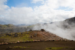 Geothermal area Landmannalaugar Stock Images