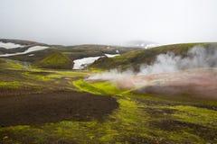Geothermal area Landmannalaugar Stock Image