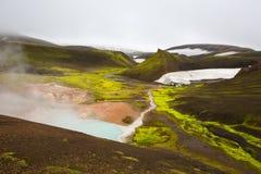 Geothermal area Landmannalaugar Royalty Free Stock Photo