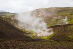 Geothermal area Landmannalaugar Stock Photos
