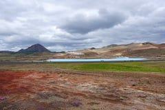 Geothermal area Namafjall, Hverir, Myvatn. Iceland Stock Images