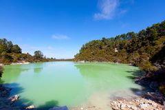 Geothermal area in new zealand Royalty Free Stock Photo