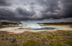 Geothermal Area. Photo from Gunnuhver, a geothermal area located at Reykjanes peninsula in Iceland stock photos