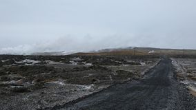 Geothermal area stock video