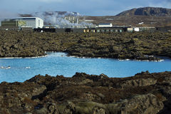 Geothermal bath Blue Lagoon in Iceland stock photography