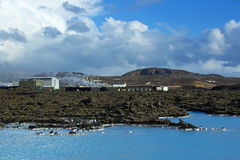 Geothermal bath Blue Lagoon in Iceland Royalty Free Stock Photography