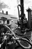 Geothermal drilling machine Royalty Free Stock Image