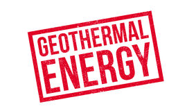 Geothermal Energy rubber stamp Stock Images