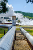 Renewable Energy. Steam pipes for geothermal renewable energy Royalty Free Stock Photos