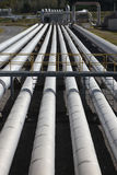 Geothermal Energy Steam Power Pipes  Stock Photos