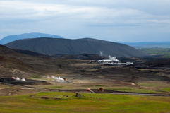 Geothermal facilities Royalty Free Stock Image