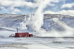 Geothermal Factory Royalty Free Stock Images