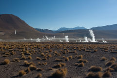 Geothermal field Royalty Free Stock Images