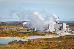 Geothermal field of Gunnuhver, Iceland Royalty Free Stock Photography