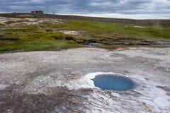 Geothermal field Hveravellir with hot water springs, Iceland Royalty Free Stock Image