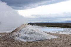 Geothermal field Hveravellir, steam pyramid, Iceland Stock Image