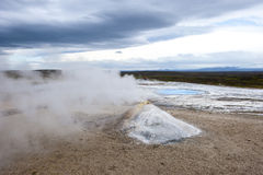 Geothermal field Hveravellir, steam pyramid, Iceland Stock Photo