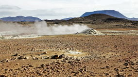 Geothermal field stock footage