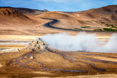 Geothermal field Stock Images