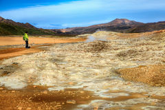 Geothermal field Stock Photos