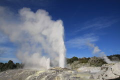 Geothermal  fountains Royalty Free Stock Images
