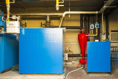 Geothermal heat pump for heating Royalty Free Stock Images