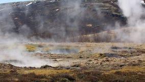 Geothermal hot pool stock video footage