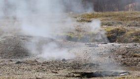 Geothermal hot pool stock footage