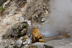 Geothermal hot water in Furnas on the island of Sao Miguel Royalty Free Stock Photography