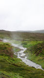 Geothermal hot water river near Myvatn Stock Photos