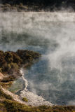 Geothermal lake in Waimangu volcanic valley Stock Photos