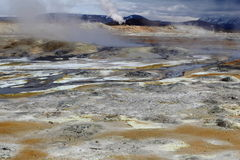 Geothermal landscape I. N Iceland - scenery Royalty Free Stock Photos