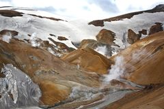 Geothermal landscape in Iceland. Stock Photos