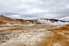 Geothermal landscape in Iceland3 Royalty Free Stock Image