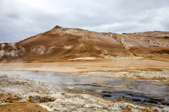 Geothermal landscape in Iceland5 Royalty Free Stock Image