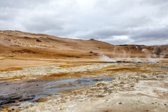 Geothermal landscape in Iceland4 Stock Photos