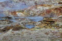 Geothermal landscape II. Geothermal landscape detail captured in Iceland Stock Photo