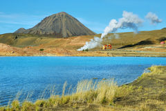 Geothermal landscape near Lake Myvatn Stock Image