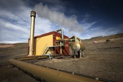 Geothermal plant Stock Images