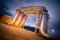 Geothermal plant Stock Photos